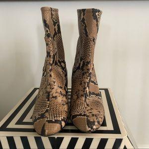 Zara Snakeskin Booties
